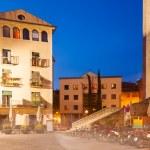 Night view of old street of Girona — Stock Photo
