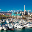 Yachts in Port Forum. Barcelona, Spain — Stock Photo
