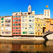 Stock Photo: Panorama of Girona