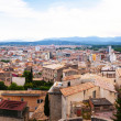 Top panoramic view of european city. Girona  — Stock Photo