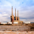 Chimneys of Besos power thermal station in Sand Adria de Besos — Stock Photo #30994763