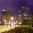 Panorama of night city. Barcelona — Stock Photo