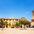 Panorama of Besalu. Church of Sant Pere — Stock Photo