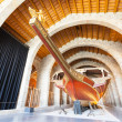Replica of medieval ship in Museu Maritim de Barcelona — Stock Photo