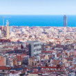 Top view of historic district at Barcelona — ストック写真