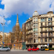 View of Barcelona, Spain. Passeig de Sant Joan — Stock Photo