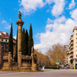 Stock Photo: View of Barcelona, Verdaguer square