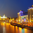 Moskva River in night. Russia — Stock Photo