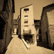 Old european street. Besalu — Stock Photo