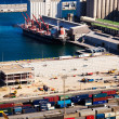 Port de Barcelona - logistics port — Stock Photo #30995779