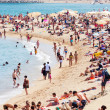 Barceloneta Beach in Barcelona, Spain. — Stock Photo