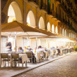 Nightlife in old  european city.  Girona — Stock Photo