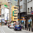 Treet with shops of AndorrlVella — Stok Fotoğraf #30996163