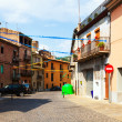 Ordinary street in catalan town — Stock Photo