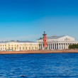 Spit of Vasilievsky Island  in summer day — Stock Photo