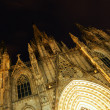 Night view of Catedral de Barcelona — Stock Photo