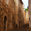 Street view of medieval Girona — Stock Photo