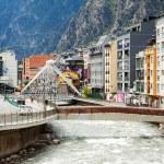 Постер, плакат: Valira river in Andorra la Vella Andorra