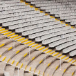 empty tribunes of  stadium  — Stock Photo