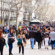 people at La Rambla, Barcelona  — Stock Photo