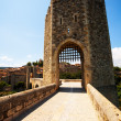 Way into medieval town. Besalu — Stock Photo