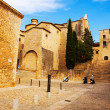 View of Girona - Plaza de Sant Domenec — Stock Photo