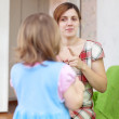 Mother berates her child — Stock Photo #30997311