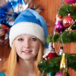Teen girl in christmas  — Stock Photo