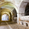 Stables in the dungeon of Sant Ferran Castle — Stock Photo