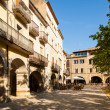 Ordinary Catalan town. Banyoles — Stock Photo