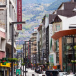 City street in Pyrenees  in Andorra la Vella — Stock fotografie