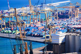 Port de Barcelona - logistics port — Stock Photo