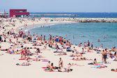 Spiaggia di bogatell a barcellona — Foto Stock