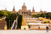 National Palace of Montjuic in Barcelona. Catalonia, Spain. — Stock Photo