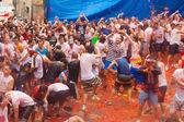 La tomatina festival — Stockfoto