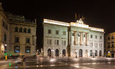 Night view of old city hall. Barcelona — Stock Photo
