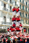 Castell - Catalan show is human tower — Stock Photo
