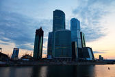 Moscow City buildings in summer morning — Stock Photo