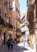 View of Barcelona - Gothic Quarter. Catalonia — Stock Photo