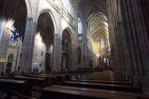 Interior of Saint Vitus Cathedral — 图库照片