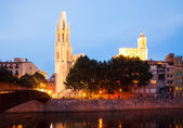 View of of Girona in evening time — Stock Photo