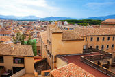 Top view of european city. Girona — Stock Photo