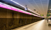Interior of metro station Badalona Pompeu Fabra — Stock Photo