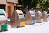 Trashcans at city street — Stock Photo
