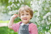 Toddler in spring — Stockfoto