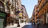 Rue au quartier historique de saragosse. aragon — Photo