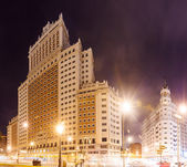 Night view Spain Building in Spain Square at Madrid — Stock Photo