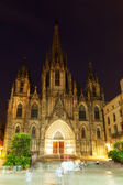 Night view of Barcelona Cathedral — Stock Photo