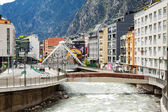 Valira river in Andorra la Vella, Andorra — Stock Photo