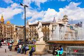 Catalonia Square. Barcelona — Stock Photo